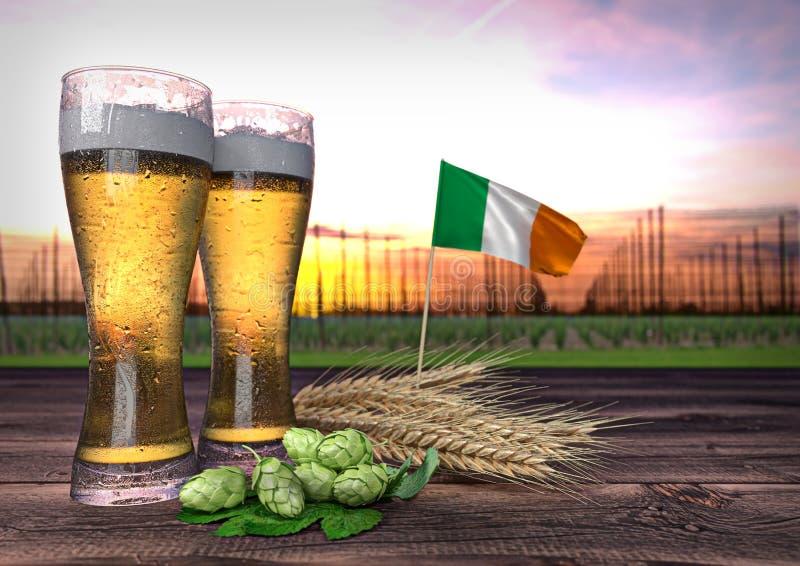 Ölförbrukning i Irland 3d framför royaltyfri foto