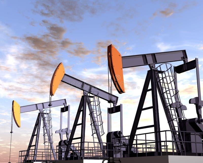 Ölfeld lizenzfreie abbildung