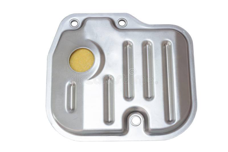Ölfilter (Sieb) in einem Automatikgetriebe stockfotografie