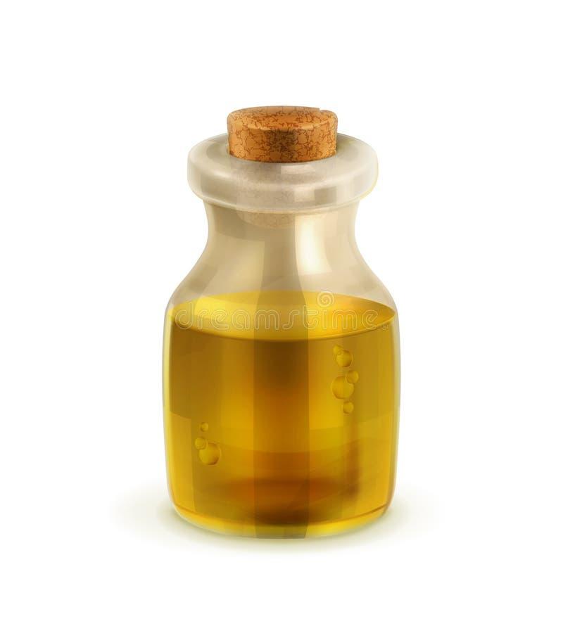 Ölflasche mit Korken lizenzfreie abbildung