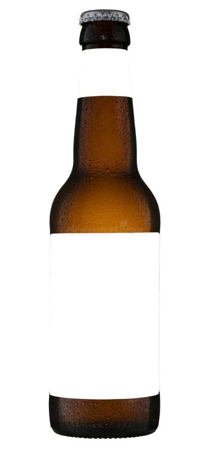 Ölflaskan med en tom vit etikett, hyr rum för ditt egentillverkat arkivbilder