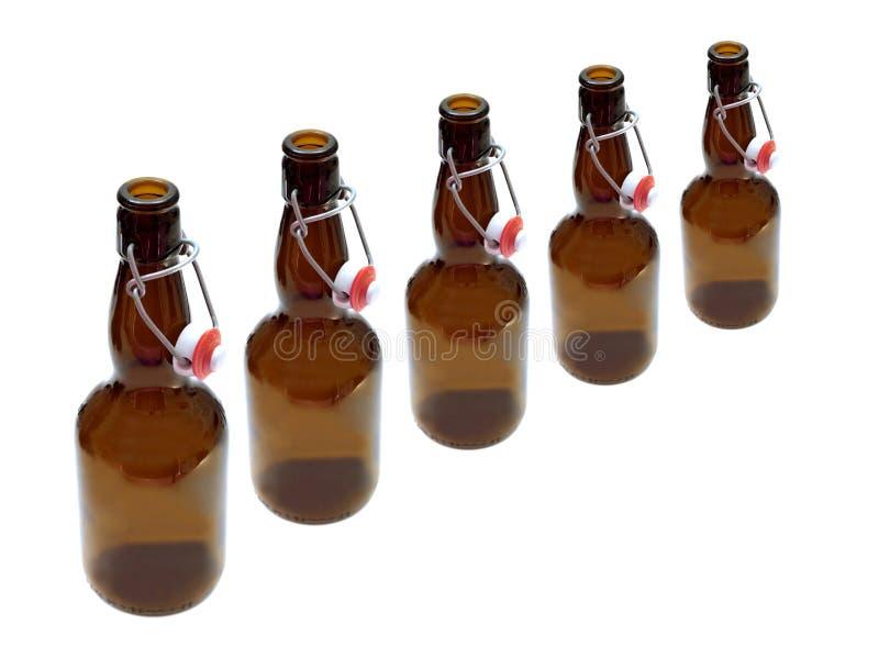 Ölflaskor fotografering för bildbyråer