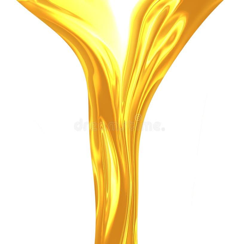 Ölfluss lizenzfreie abbildung