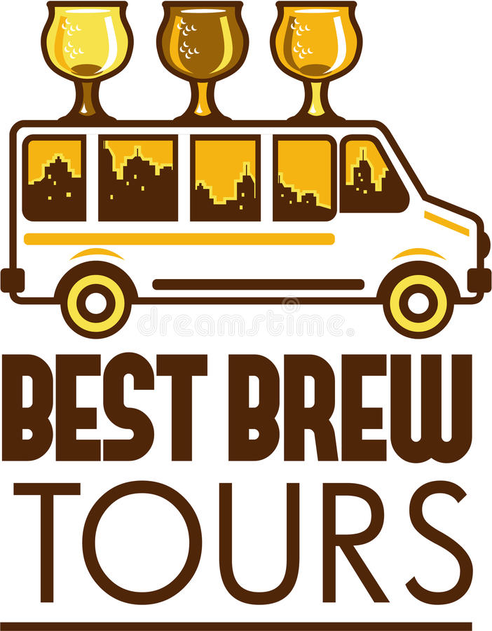 Ölflygexponeringsglas Van Best Brew Tours Retro stock illustrationer