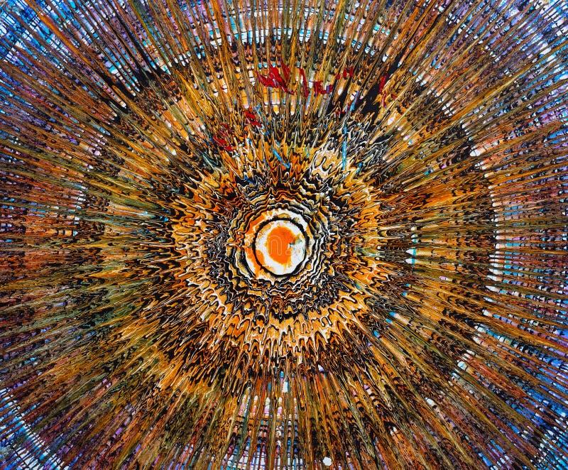 Ölgemälde - Abstraktion stockbild