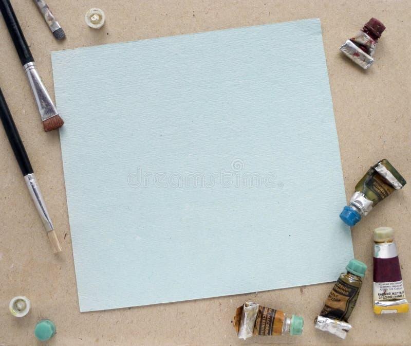 Download Ölgemäldefeld stockbild. Bild von pinsel, lacke, gefärbt - 9079871