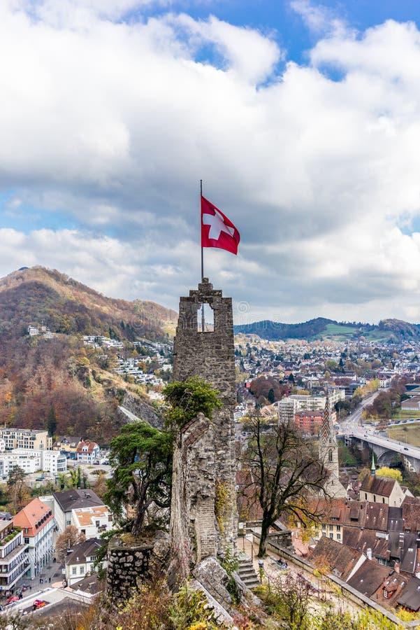 Ölkrusslott av Baden i Schweiz - 2 fotografering för bildbyråer