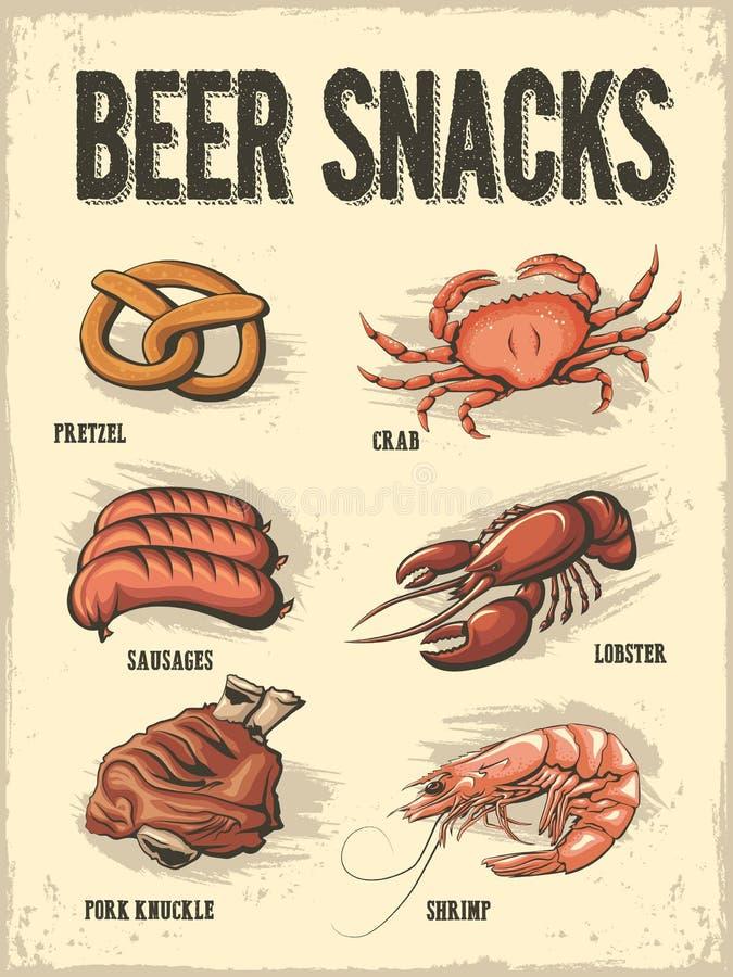 Ölmellanmål stock illustrationer