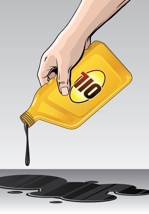 Ölpest oder gießen stock abbildung