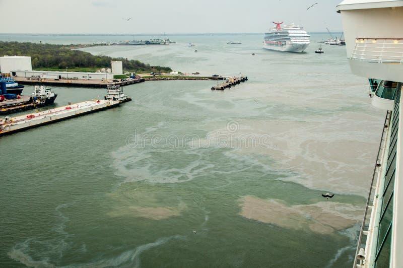Ölpest Verseuchter Strand in Chonburi, Thailand lizenzfreies stockbild