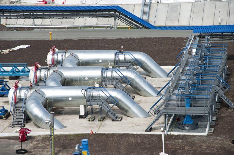 Ölpipeline stockfoto