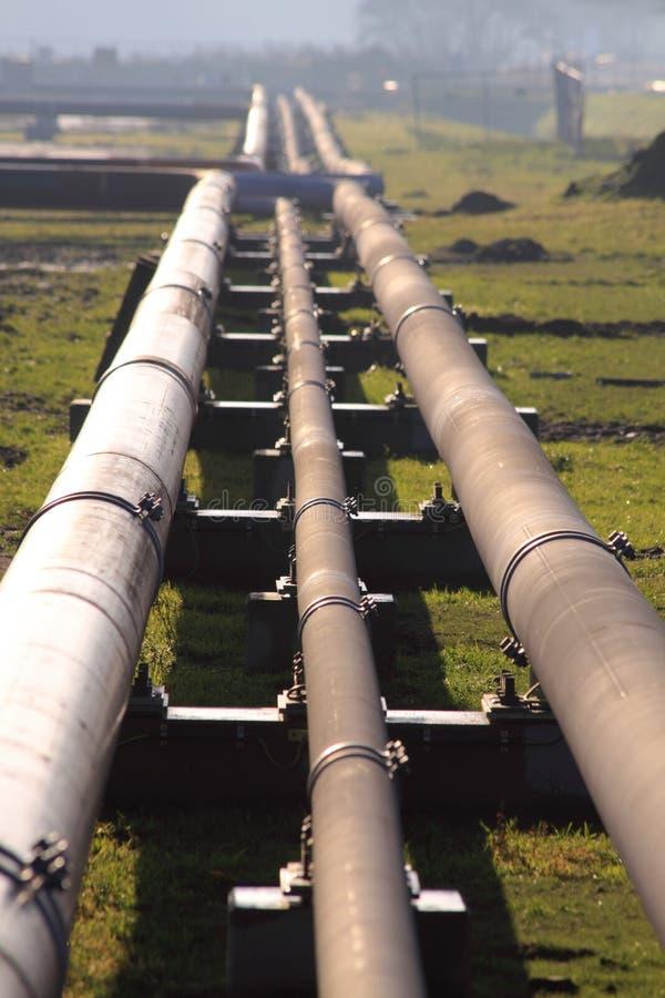 Ölpipelines stockfotografie