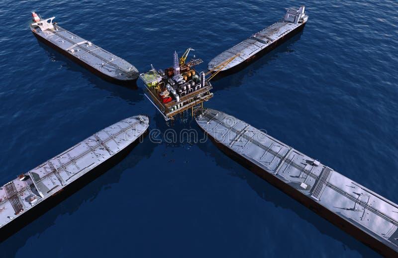 Ölplattform stock abbildung