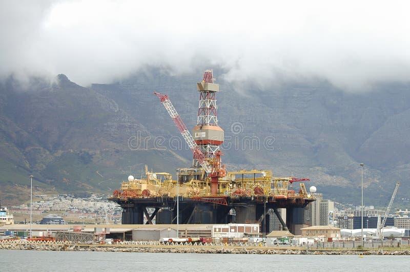 Ölplattform - Cape Town - Südafrika stockfotos