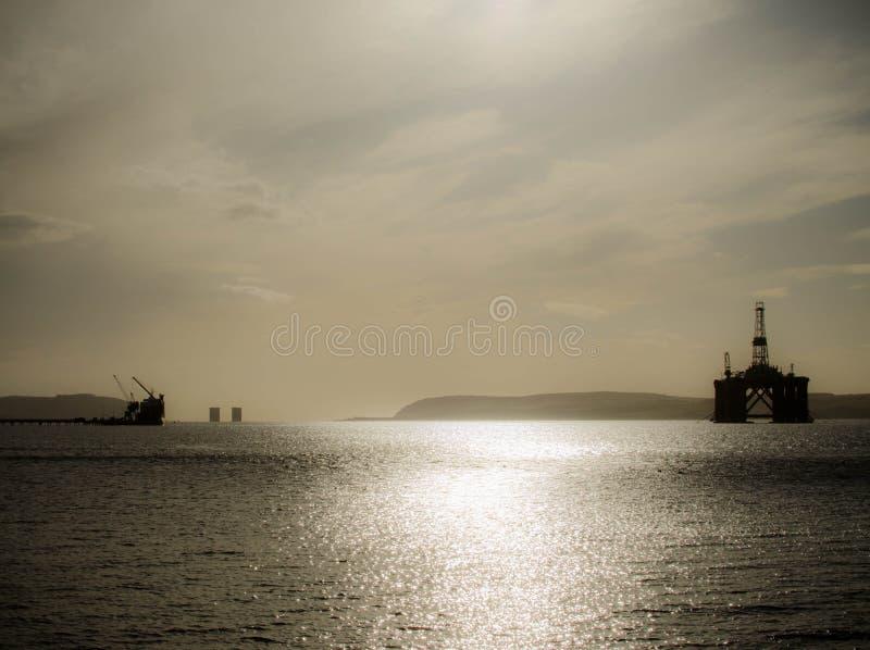 Ölplattform in Schottland lizenzfreie stockfotos
