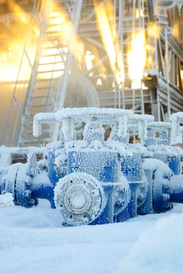 Ölplattformausrüstung. stockbild