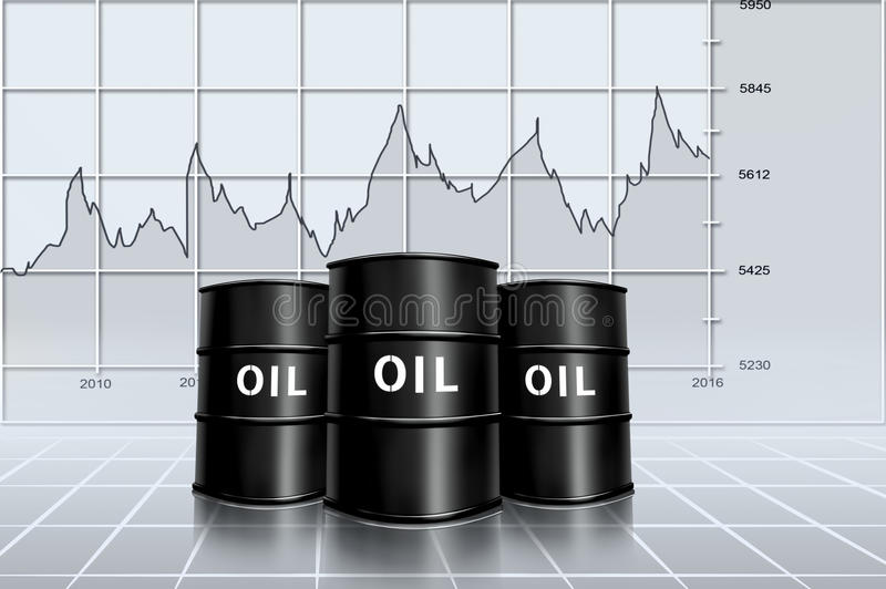 Ölpreisanalyse lizenzfreie abbildung