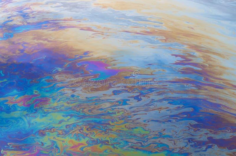Ölteppich lizenzfreies stockbild