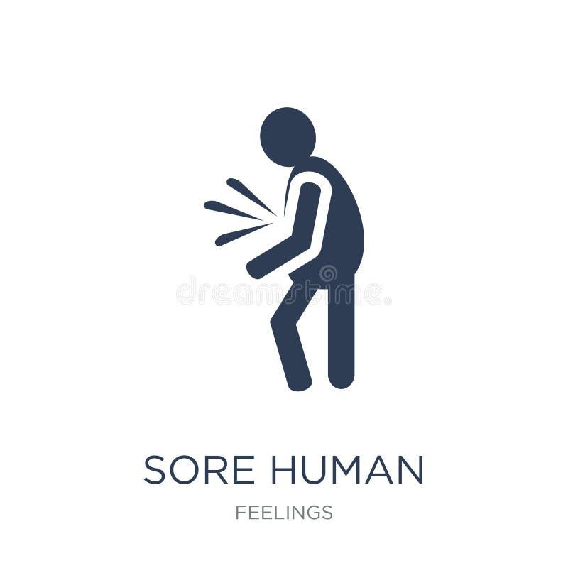 öm mänsklig symbol Öm mänsklig symbol för moderiktig plan vektor på vit bac stock illustrationer