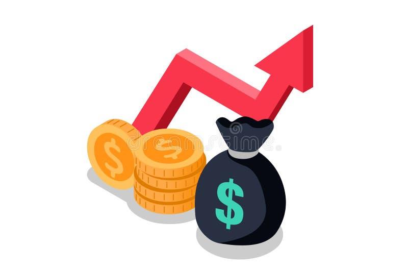 Ömsesidig funnen illustration för pengarsymbolsvektor royaltyfri illustrationer