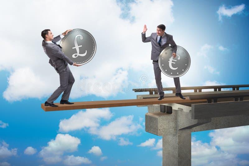 Ömsesidigt beroendebegreppet med två valutor arkivbild