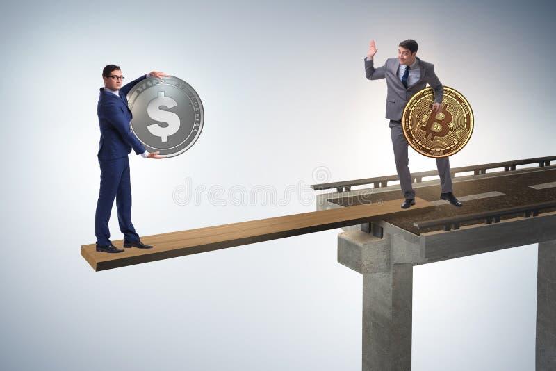 Ömsesidigt beroendebegreppet med två valutor royaltyfri fotografi