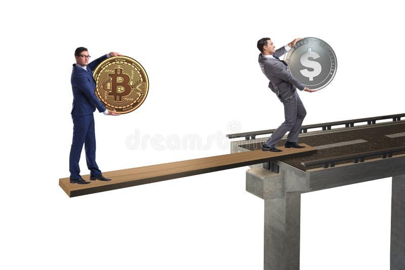 Ömsesidigt beroendebegreppet med två valutor royaltyfria foton