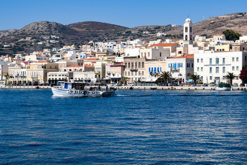 Ön av Syros royaltyfri fotografi