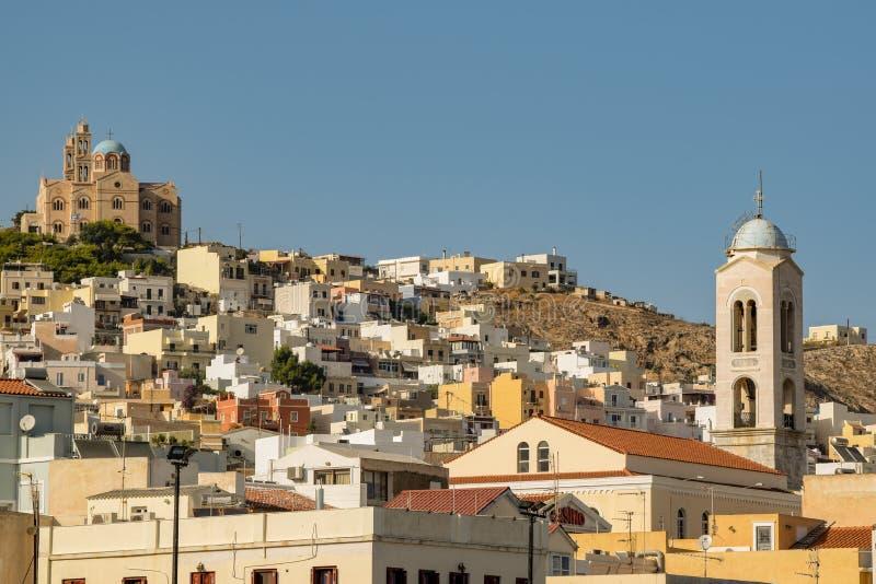 Ön av Syros royaltyfri foto