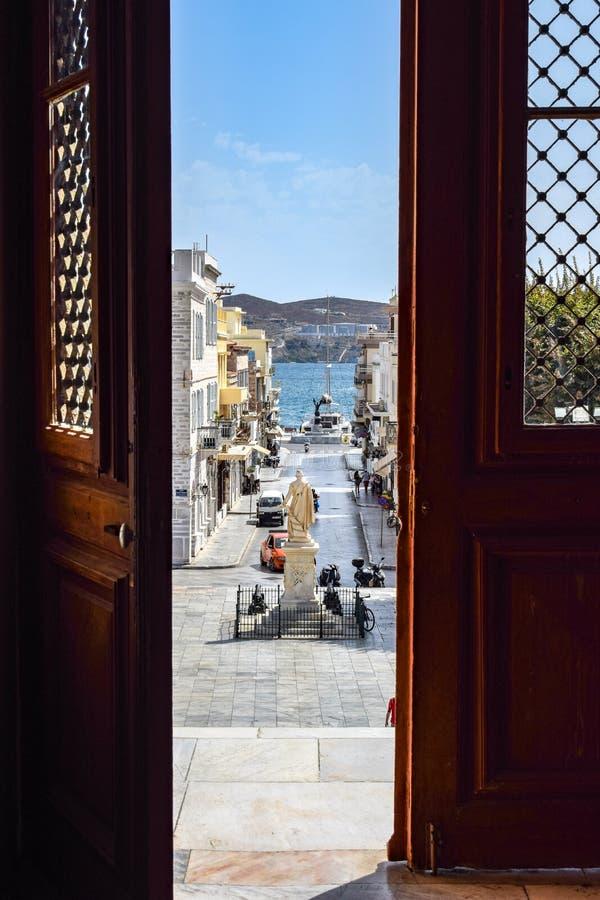 Ön av Syros fotografering för bildbyråer