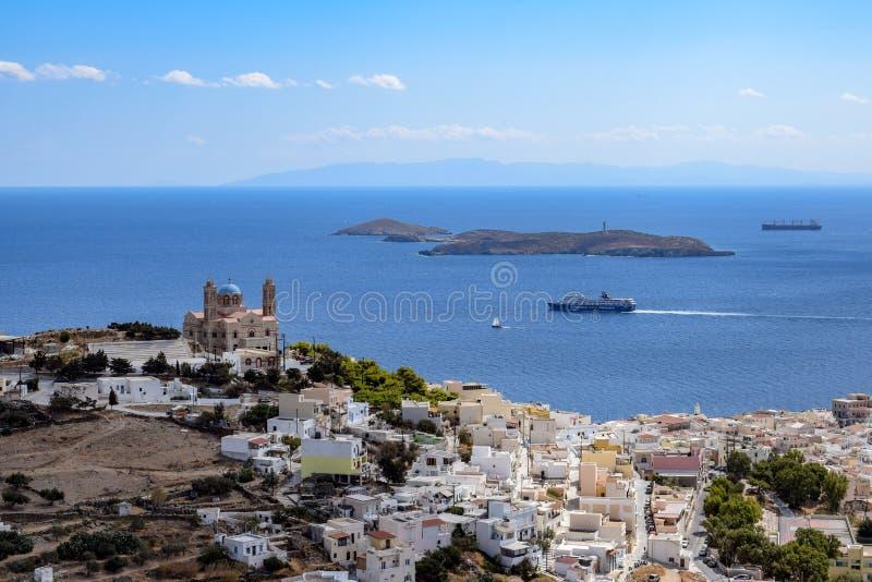 Ön av Syros royaltyfri bild