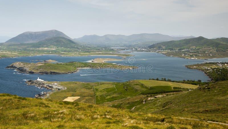Ön av Valentia i Gaelic Dairbhre som är västra av Irland arkivbilder