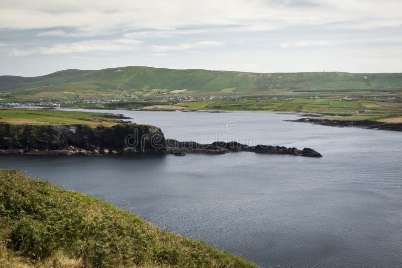 Ön av Valentia i Gaelic Dairbhre som är västra av Irland royaltyfri fotografi