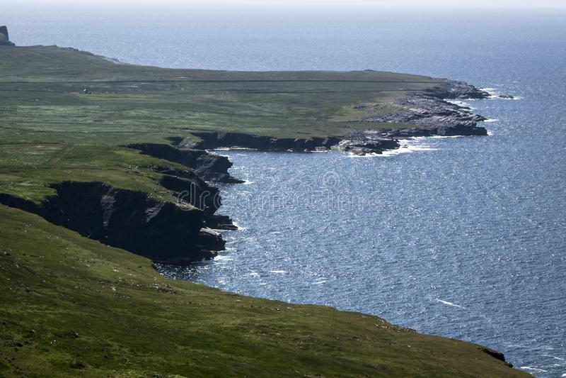 Ön av Valentia i Gaelic Dairbhre som är västra av Irland arkivfoton
