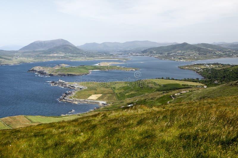 Ön av Valentia i Gaelic Dairbhre som är västra av Irland arkivfoto