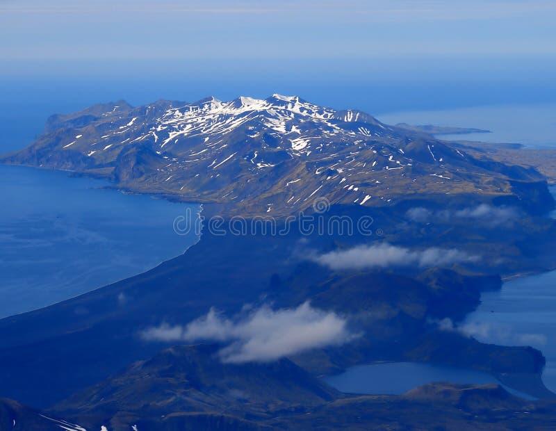 ön jan mayen den sydliga delen royaltyfri bild