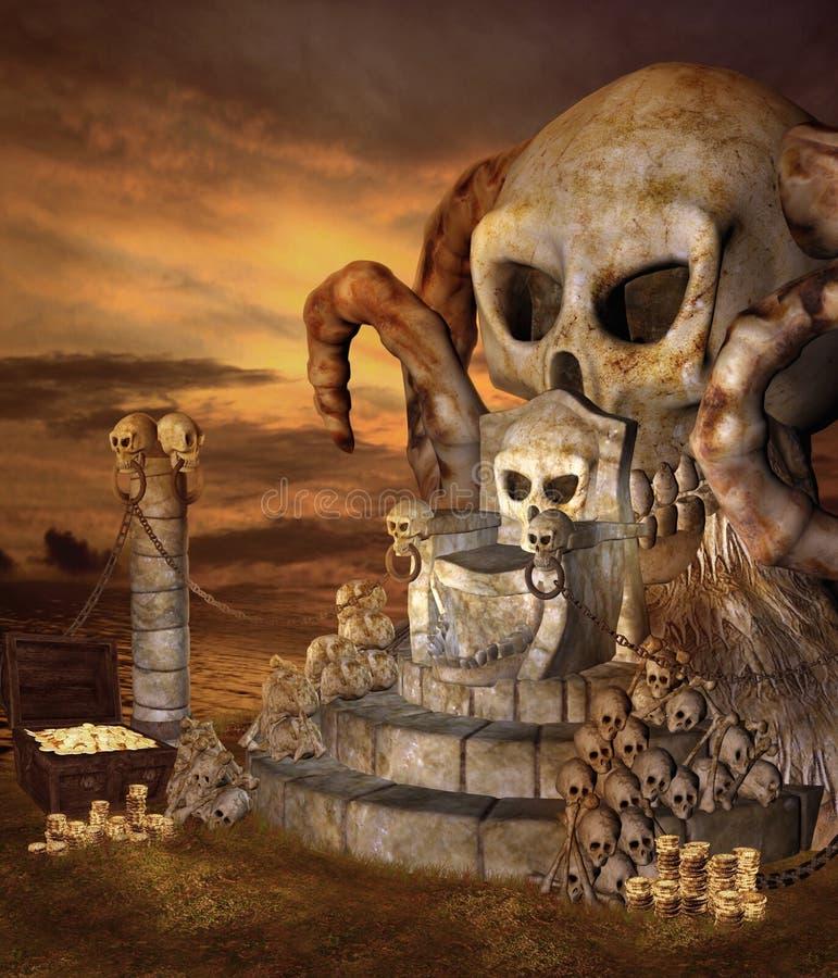ön piratkopierar royaltyfri illustrationer