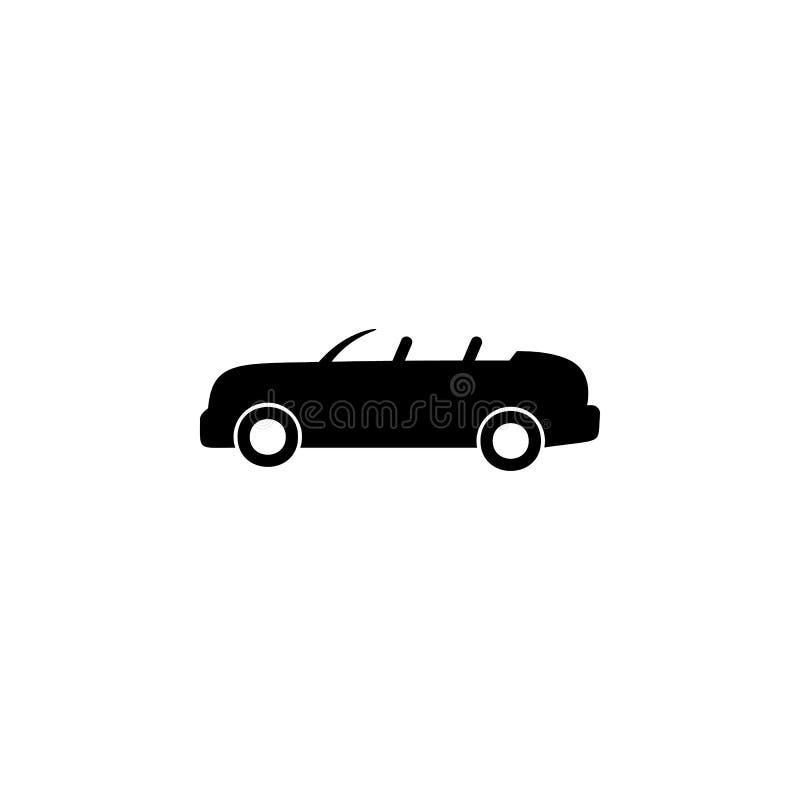 öppen-överkant bilsymbol Beståndsdel av biltypsymbolen Högvärdig kvalitets- symbol för grafisk design Tecken och symbolsamlingssy vektor illustrationer