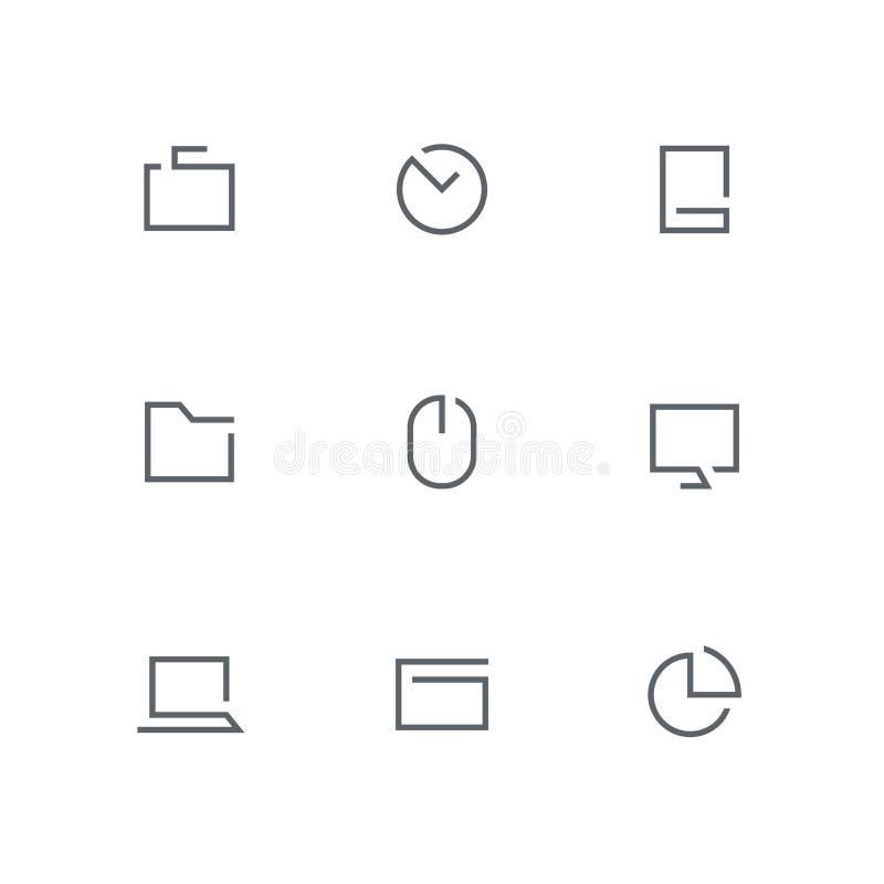 Öppen översiktssymbolsuppsättning 02 vektor illustrationer