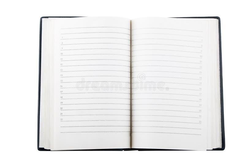öppen anteckningsbok royaltyfria bilder