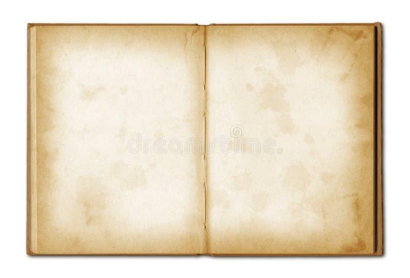 Öppen anteckningsbok för gammal grunge arkivbilder