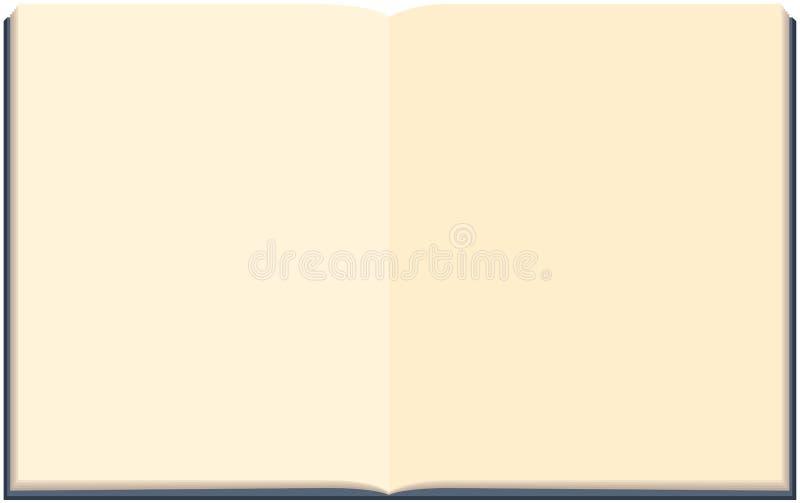 Öppen anteckningsbok som isoleras på den vita background_2en vektor illustrationer