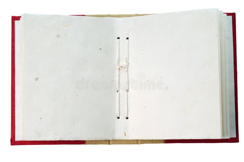 öppen blank anteckningsbok royaltyfri bild