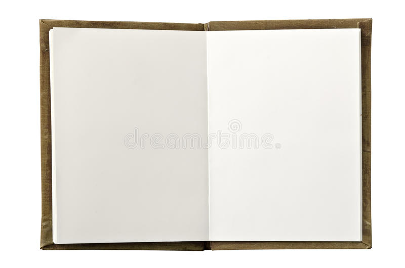 öppen blank anteckningsbok arkivbild