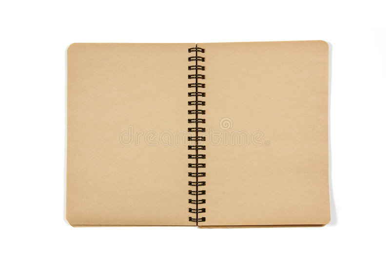 öppen blank anteckningsbok royaltyfri fotografi