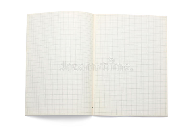 öppen blank bok royaltyfri foto