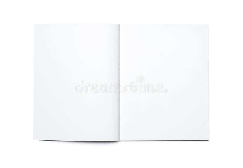 öppen blank tidskrift royaltyfri fotografi