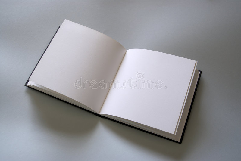 Öppen bok för Plain fotografering för bildbyråer