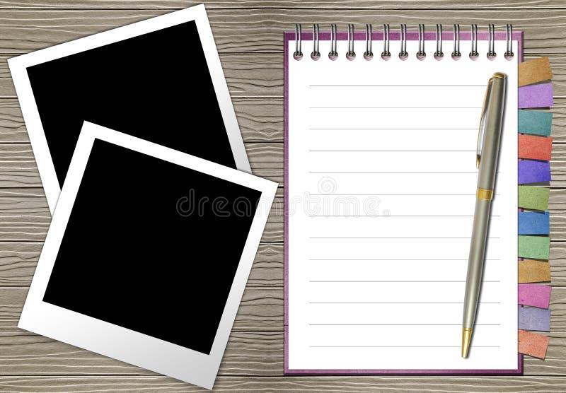 öppen bokbokmärkeanmärkning royaltyfri illustrationer