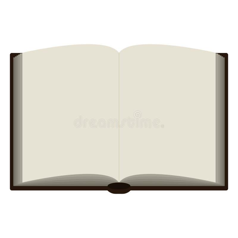 öppen bokillustration stock illustrationer